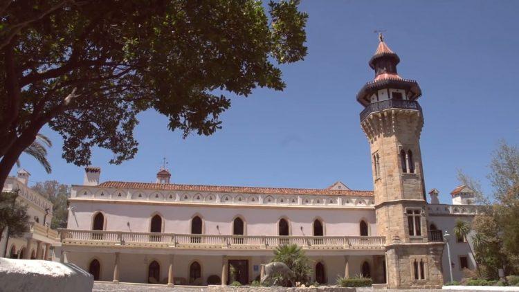 Fachada exterior del hotel Monasterio, en la Almoraima blessing ceremony English Spanish French