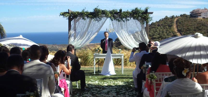 Oficiante de bodas civiles Malaga