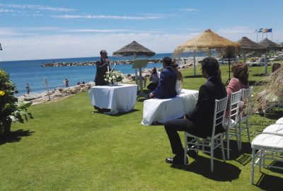 Civil wedding ceremony in Sotogrande, Cadiz blessing ceremony ceremony ceremony