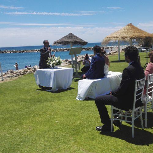 Civil wedding ceremony in Sotogrande, Cadiz blessing ceremony ceremony ceremony