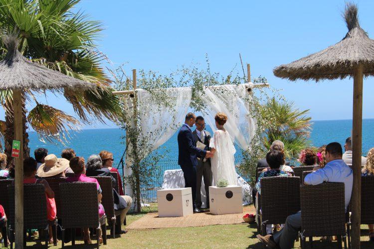 Свадьбы на пляже Михас Коста Свадьбы на пляже Михас Марбелья Церемонии Mariages сюр-ла-пладж Марбелья Mijas05