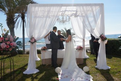 Romatic Blessing ceremony for 2 people an elopment wedding in Marbella F11