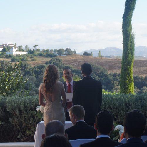 Hochzeitsministerin Ronda-Segenszeremonie