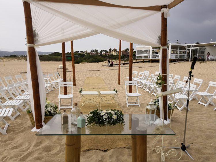 Мастер церемонии и судейство гражданской свадьбы Мелия Атлантерра Барбатера Кадис 11