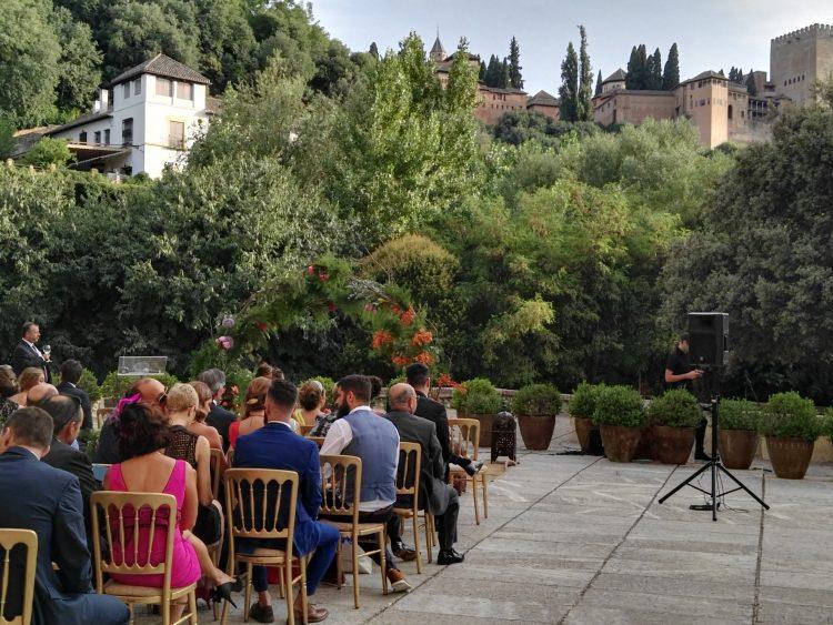 Palacio de los Cordova, Granada Maestros de ceremonias y oficiantes de bodas en La Alhambra
