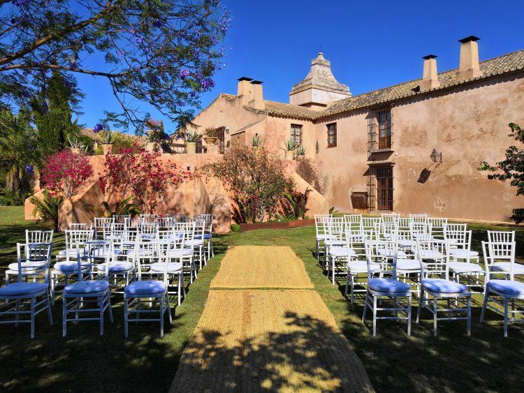 Ceremonimästare på Los Molinillos Estate i Mairena de Alcor, i Sevilla